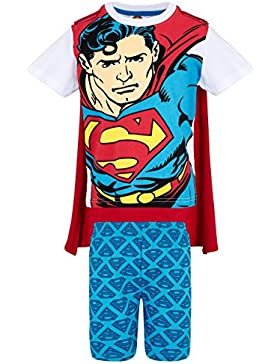 Superman Chicos Pijama mangas cortas - Blanco