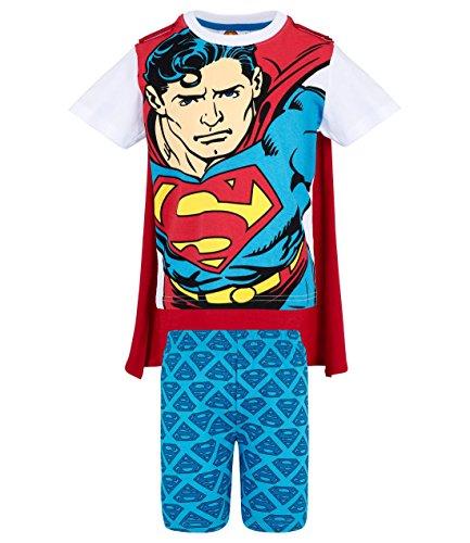 Superman Jungen Shorty-Pyjama - weiß - 140