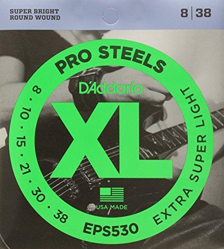 D'Addario EPS530 XL Gitarrensaiten Extra-Super Light 0,020 cm - 0,097 cm (.008 - .038 Zoll)