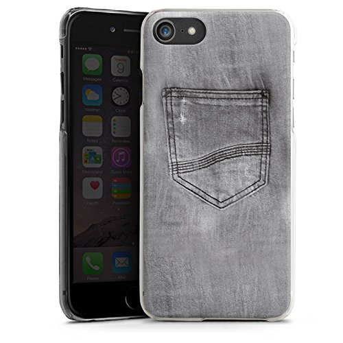 Apple iPhone X Silikon Hülle Case Schutzhülle Jeans Style Hose Grau Hard Case transparent