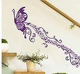 Creativa Mariposa Nota Musical Dormitorio Sala de estar Extraíble Autoadhesiva Pegatinas de Pared Tatuajes de Arte Decoración Mural Cartel