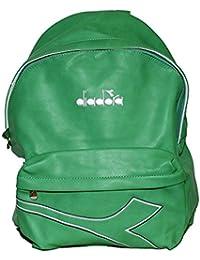 Diadora zaino americano in eco pelle verde 8f72e4ece67