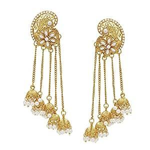 Shining Diva 18k Gold Plated Fancy Party Wear Jhumka / Jhumki Traditional Earrings For Women & Girls