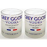 Kavi The Poetry-Art Project Kavi Recycled Glass - Grey Goose Small Set Of 2