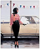 Artopweb Pannelli Decorativi Vettriano Suddenly One Summer Quadro, Legno, Multicolore, 32x1.8x40 cm