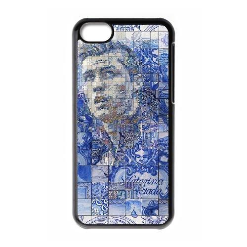 Cristiano Ronaldo coque iPhone 5C Housse téléphone Noir de couverture de cas coque EBDXJKNBO16351