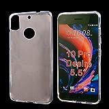 COOLKE ltradünn Silikon Soft TPU kristallklare Tasche Hulle Schutzhülle für HTC Desire 10 Pro - Transparent