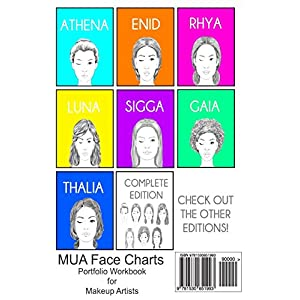 Mua Face Charts Portfolio Workbook for Makeup Artists