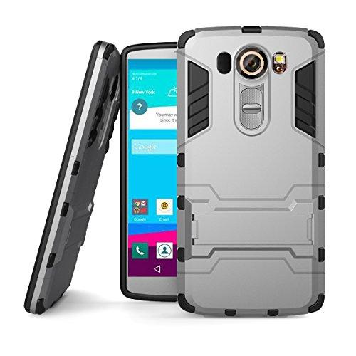 X Power Hülle,EVERGREENBUYING Abnehmbare Hybrid Schein XPOWER Tasche Ultra-dünne Schutzhülle Case Cover mit Ständer Etui für LG X Power (2016 Release) Saphir Grey