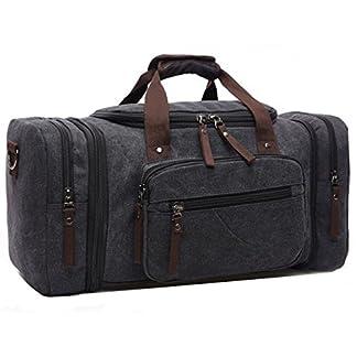 Limirror-Vintage-Canvas-Reisetasche-Sporttasche-Weekender-Tasche-fr-Damen-und-Herren-mit-der-Groen-Kapazitt