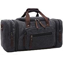 Limirror vintage Canvas Reisetasche Sporttasche weekender Tasche für Damen und Herren mit der Großen Kapazität