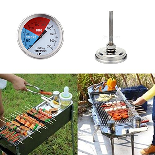 Magideal 5cm Stainless Steel Oven Thermometer BBQ Grill Cooking Temperature Guage
