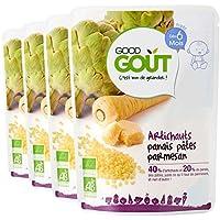 Good Goût - BIO - Artichaut Panais Pâtes Parmesan dès 6 Mois 190 g - Lot de 4