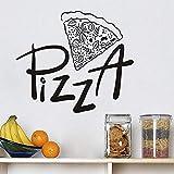 Cucina Adesivo da muro pizzeria Ristorante pizzeria Albergo pizzeria Vetrinetta per la casa Piastrelle armadio intagliato Adesivi murali in vinile a7 67 * 58cm