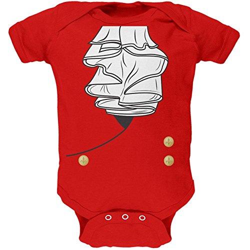tüm männliche weiches Baby Einteiler rot 0-3 M (Halloween Männliche Kostüme)