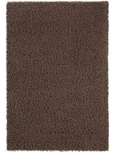 Benuta Cambria -Alfombra de Pelo Largo Tipo Shaggy | para Dormitorio y Salón, Fibra sintética, marrón...
