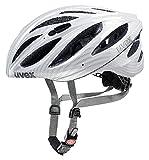 Uvex Fahrradhelm Boss Race, Carbon Look White, 55-60 cm