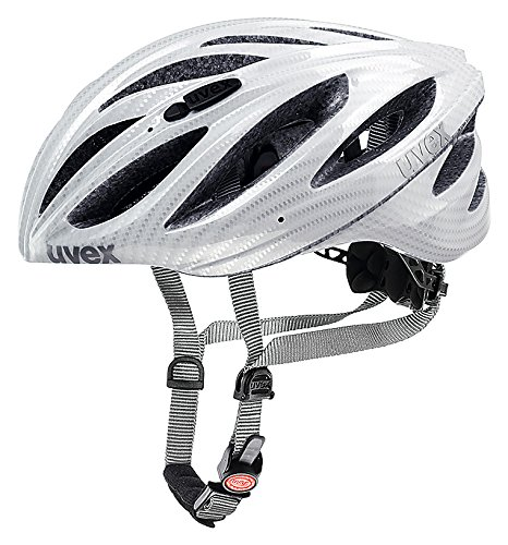 Uvex Boss Race - Casco unisex, color carbono/blanco, talla 55-60