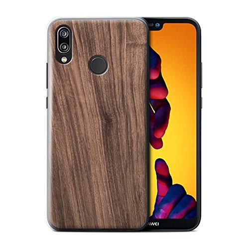 Stuff4 Hülle/Case für Huawei P20 Lite/Nussbaum Muster/Holz/Holzmaserung Muster Kollektion -