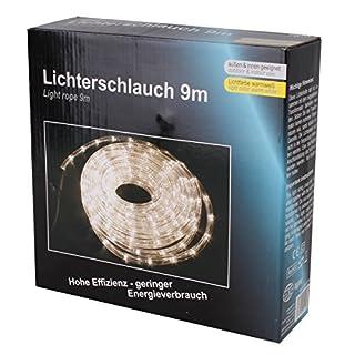 LEX   9m LED Lichterschlauch   Beleuchtung für Innen- und Außenbereich   IP44