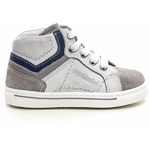 Nero Giardini Junior, Chaussures Premiers Pas pour bébé (garçon) Gris Gris 20 - Gris - Velour Cenere, 21 EU