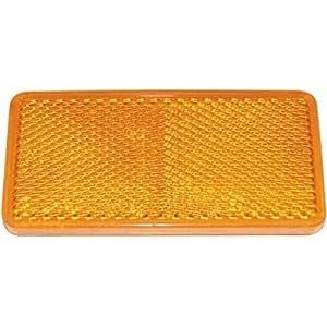 Catadioptre rectangle adhesif orange de dimension 94 x 44 mm