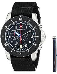 Swiss Army Maverick Sport Quartz Chronograph Steel Mens Watch Nylon Strap 241678.1