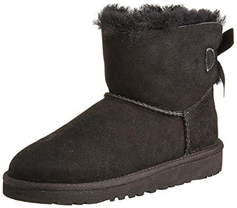 UGG Unisex-Kinder Mini Bailey Bow Kurzschaft Stiefel, Schwarz (Nero), 36 EU