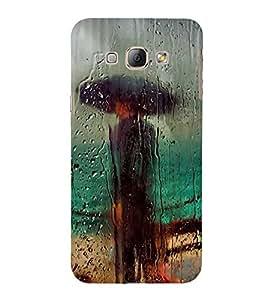 PrintVisa Men Under Umberella 3D Hard Polycarbonate Designer Back Case Cover for Samsung Galaxy A8 :: Samsung Galaxy A8 Duos :: Samsung Galaxy A8 A800F A800Y