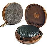 Tuff-Luv Tweed à chevrons NFC étui Voyage pour le lien Bang & Olufsen BeoPlay A1 Bluetooth Speaker avec NFC tag - Brun