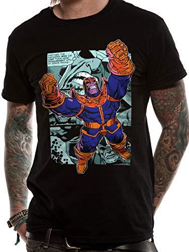 T-Shirt (Unisex-S) Thanos Comic Strip (Black)
