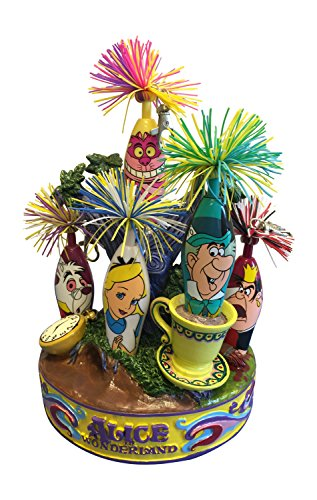 (6PC Limited Edition Alice in Wonderland Mad Hatter Kooky Stifte-Set mit Ständer)