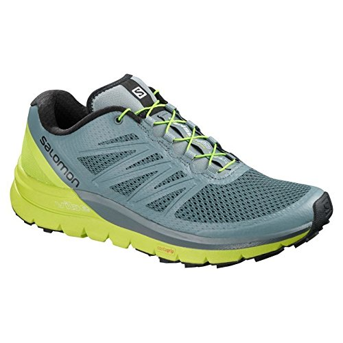 huge selection of 37521 4e53f adidas Sense Pro Max Chaussures de Trail Homme, Gris (Stormy WeatherAcid  Lime