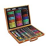 Ensemble de Crayons de Couleur,Kit d'apprentissage de la Peinture, Papeterie Pour Enfants,Boîte en Bois Pour Cadeaux Pour Enfants 150pcs