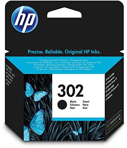 HP 302 Cartouche d'Encre Noir Authentique (F6U66AE)