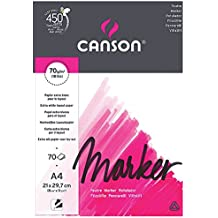 Canson Marker A4 pad including 70 sheets of 70gsm layout bleedproof paper: high white and ultra-smooth