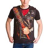 Walking Dead - T-Shirt pour Hommes Negan - Coton - Noir - Elbenwald - S