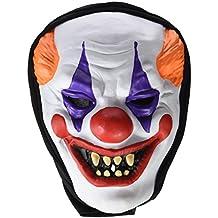 Rubie's - Mascara payaso loco con capucha, talla única (S5136)