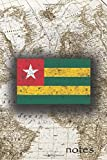 Notes: Beautiful Flag Of Togo Lined Journal Or Notebook, Great Gift For People Who Love To Travel, Perfect For Work Or School Notes