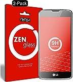 nandu I ZenGlass [2 Stück] Flexible Glas-Folie für LG K8 LTE Panzerfolie I Bildschirm-Schutzfolie 9H I (Kleiner Als Das Gewölbte Bildschirm)