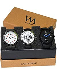WM Stylish Watches For Boys And Men Combo Gift Set With Sunglasses WMD-008-WMD-009-WMC-002aeons