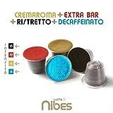 Kit di assaggio 20 Capsule compatibili Nespresso Caffe' Nibes 4/5 Miscele differenti