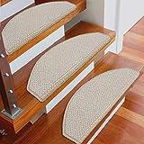 World-ditan Treppen Carpet-Plain Treppenmatte Step Anti-Rutschmatte Glue-Free Selbstklebende Haushalts-Treppenmatte Wash (Farbe : Arc(5 Piece), größe : 75 * 24 * 3cm)