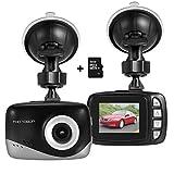 MINI Auto Dash-Kamera, Foxcesd FHD 1080P Dashboard Kamera 140 Grad Weitwinkel Driving Recorder mit G-Sensor, Loop-Aufnahme, Bewegungsmelder, 16GB TF Card,