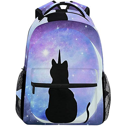 Mochila de Viaje Cute Cartoon Cat School Bookbags Hombro Laptop Daypack College Bag para Mujeres Hombres...