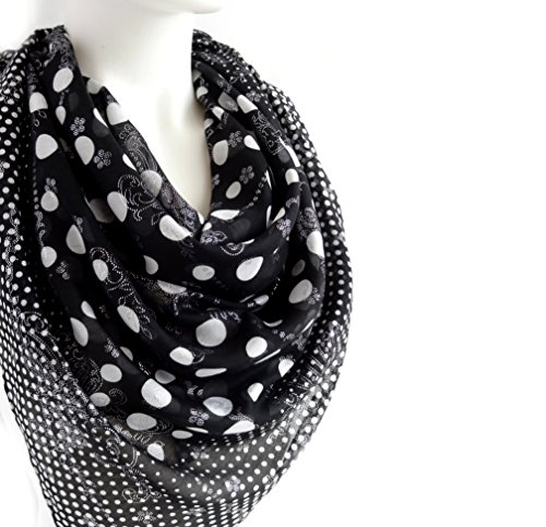 sparkly-elegant-spring-summer-polka-dots-scarf-black-white-silvery-floral-print-soft-cotton-large-sq