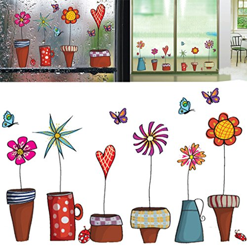 Bomcomi La Flor Mariposa Dibujos Animados Pegatinas