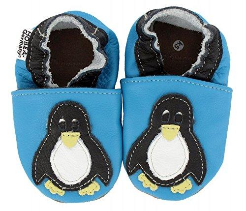 HOBEA-Germany Krabbelschuhe in verschiedenen Farben und Designs mit Tieren , Modell Schuhe:Pinguin, Schuhgröße:22/23 (18-24 Monate)