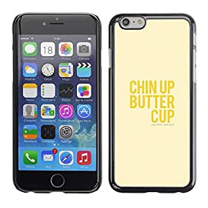 Omega Covers - Snap on Hard Back Case Cover Shell FOR Apple Iphone 6 Plus / 6S Plus ( 5.5 ) - Upbeat Happy Positive Yellow Text