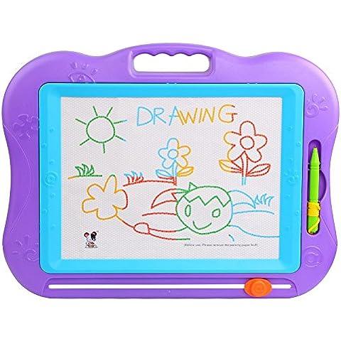 Tonor Tablero de Dibujo Magnético Multicolor Borrable para el Desarrollo Habilidades de Dibujar de Bebé/Niños Juguete para Niños